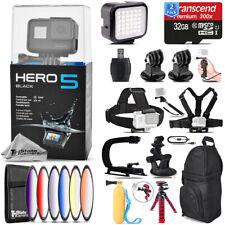 GoPro Hero5 Black 4K Camera + 6PC Graduated Filter + Backpack - 64GB Bundle Kit