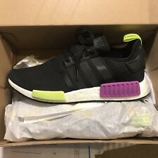 NEW Adidas NMD R1 Boost Core Black Shock Purple Size 10.5 D96627