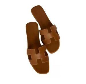 Sandales Oran 35-40 US 2.5-6.5 size women shoes cuir leather claquette hermes