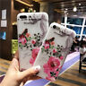 Matte Pretty Floral Vintage Retro Silicone Case Cover For iPhone 5 6 7 8 Plus X