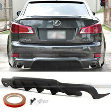 For: IS250 IS350 WD W Style Urethane Rear Bumper Diffuser Chin Lip Add On Kit