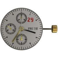 28800 Bph Clone Automatic Chronograph Watch Movement  7750 ETA VALJOUX White 3h