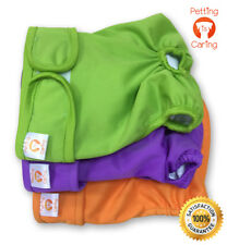 Female Dog Diapers Washable & Reusable by PETTING IS CARING Pet Incontinence SET