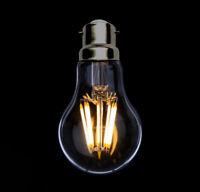 GLU 80w LED Light Bulb Clear Filament Retro Bayonet Lamp 8W B22 Dimmable - UK