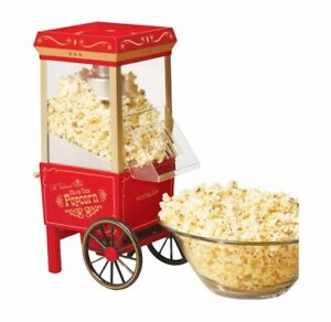 NEW Nostalgia Old fashioned hot air popcorn maker vintage collection- movies