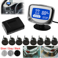 Weatherproof 8 Rear Front View Car Parking Sensors + LCD Display Monitor  3Color