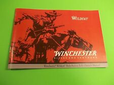 WINCHESTER WILDCAT BOLT ACTION RIFLE OWNERS MANUAL
