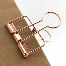 Rose Gold Planner Clips Bulldog Paper Clip Copper 33mm x 3