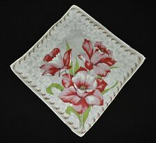 vintage handkerchief Big Flower Center Print sweet Shabby Cottage Chic charming