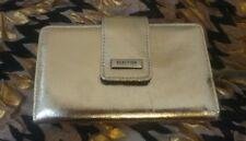 Sleek Metallic Gold Kenneth Cole Reaction Wallet-Organizer NWT orig $50