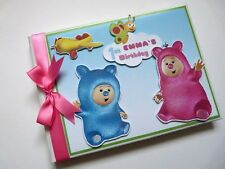 PERSONALISED BILLY BAM BAM GIRL /FIRST/1ST BIRTHDAY GUEST BOOK ANY DESIGN