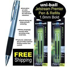 Uni Ball Jetstream Premier 10mm Bold Black Ink Pen Amp 2 Packs Of Refills