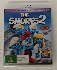 THE SMURFS 2 - 3D + 2D Blu-ray 2-DISC Region A B C oz seller
