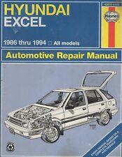 1986-1994 HAYNES HYUNDI EXCEL ALL MODELS REPAIR SERVICE MANUAL 43015 (529)