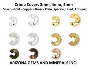 Crimp Covers Beadalon 3, 4, and 5mm. Silver, Gold,Brass,Copper Color 48/100 PCS.
