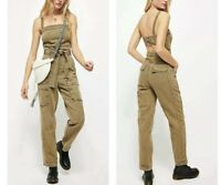 NWT-Free People  Go West Utility Jumpsuit Army Sage Size:S $148