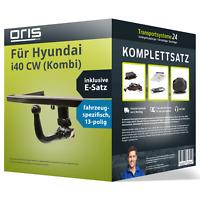 Anhängerkupplung ORIS abnehmbar für HYUNDAI i40 CW (Kombi) +E-Satz Kit NEU AHK