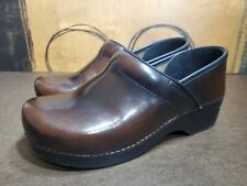 Dansko Womens Nursing Clog Shoes Size 40 / 9.5-10 Brown Leather Slip On (b5