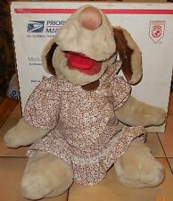 "Vintage 1981 WRINKLES DOG 17"" PUPPET Plush Toy Doll Stuffed Animal GANZBROS"