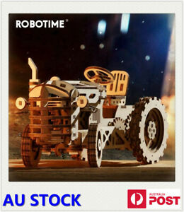 Robotime Creative Movable DIY Tractor Wooden Model Building Kits Assembly Gift