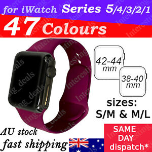 Sports Silicone Bracelet wrist band For Apple Watch Series SE 6 5 4 3 2 -40/44mm