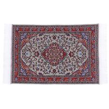 1//12 Flower Printed Carpet Area Teppich für Puppenhauszimmer Gartenzubehör