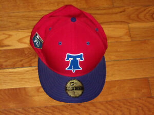NEW ERA 59FIFTY 2018 PHILADELPHIA PHILLIES 7 3/8 FITTED BASEBALL CAP EXCELLENT