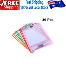 30X Dry Erase Pocket Sleeves Write and Wipe Pockets Paper Saver Tool for Kids