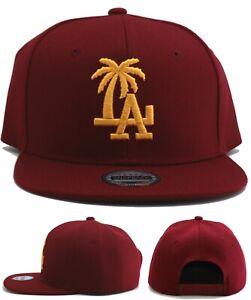 Los Angeles New Leader Palm LA Headlines Dodgers Red Gold Era Snapback Hat Cap