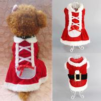 manteau Noël vêtements pet chat chien Santa Claus Christmas Déguisements costume