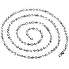 3mmφ 15cm-120cm cadena bolas acero inox. Etiqueta de Perro Collar Plata Ejército