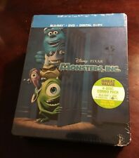 Monsters Inc Blu-ray Steelbook 4 Disc Combo (Future Shop) RARE OOP, NEW SEALED