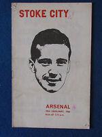 Stoke City v Arsenal - 29/1/66 - Programme