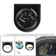 "2""52mm LED Light Car Trunk Pointer Oil Temperature Temp Gauge  Accessory50-150℃"