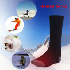 Electric battery heated socks feet warmer heater ice fishing foot shoe boot SP