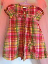 Lovely Baby Girls Next Multicolour Checked  Sequin Detail Dress 9-12m🌸