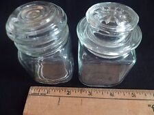 2; Anchor Hocking & Diroclas Glass Square Canister Storage Jars w/Lid,Organizers