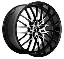 4-NEW Konig 16MB Lace 15x6.5 4x100/4x108 +40mm Black/Machined Wheels Rims