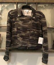 LuLaRoe Women's Camouflage Camo Presley Moto Jacket L Large