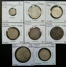 Netherlands SILVER Coin Lot Curacao Antillen Gulden Vintage Old