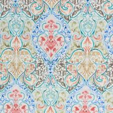 Grand Duchess Art Nouveau Orange Red Teal Blue Upholstery Drapery Fabric IL10