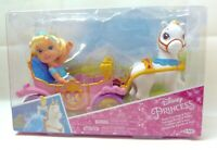"Disney Princess Cinderella Petite 6"" Toddler Doll w/ Royal Carriage & Pony - NEW"