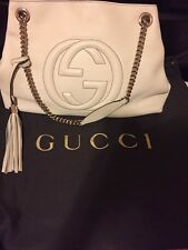 Gucci Soho Leather Shoulder Bag White