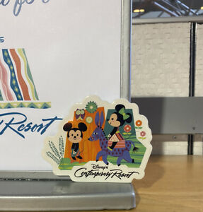 New 2021 Disney's Contemporary Resort Mickey Minnie Magnet