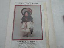 "Byron Doll Patterns By 268 - Bru Jne 10 "" Mignonett"" Fits 17' Dolls Head to Toe"
