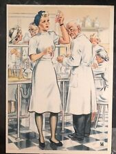 Mint WW2 Postcard Germany Army Women at War Series the laboratory assistant