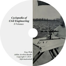 8 Volume Books on CD Cyclopedia of Civil Engineering, Railroad Bridges Construct