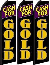 Cash for Gold Standard Size  Swooper Flag banner  sign pk of 3