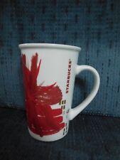 STARBUCKS starburst 2014 Christmas holiday tree 12  Oz tall coffee cup ceramic