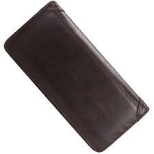 Men's Vintage Leather Long Wallets Bifold Wallet For Men